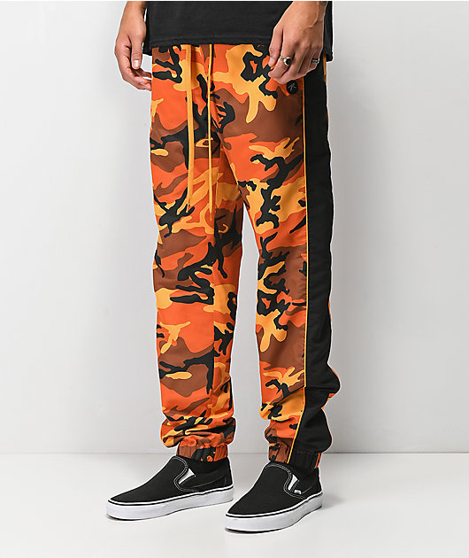 Rothco x Vitriol Jinx Orange Camo Jogger Pants