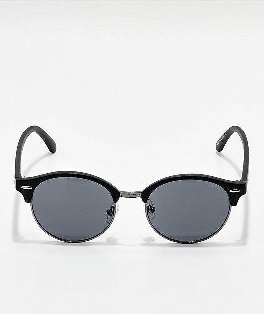 Round Black Clubmaster Sunglasses