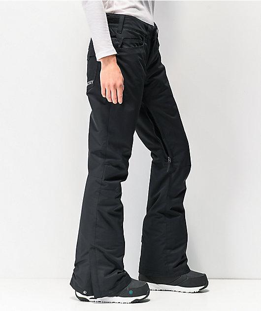 Roxy Backyard Black 10K Snowboard Pants 2020