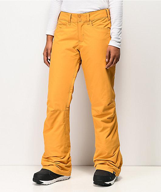 Roxy Backyard Spruce 10K pantalones de snowboard amarillos