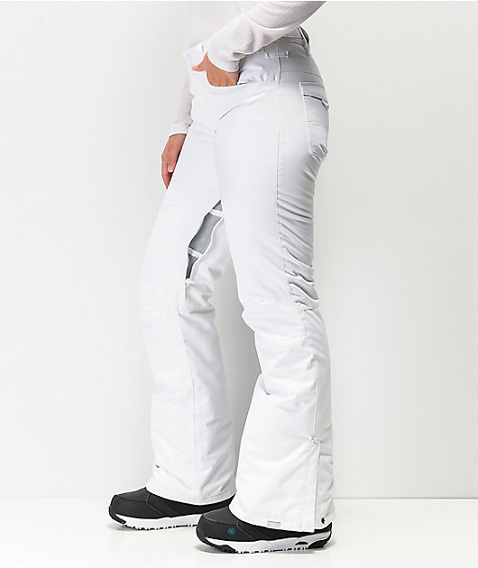 Roxy Backyard White 10K Snowboard Pants 2020