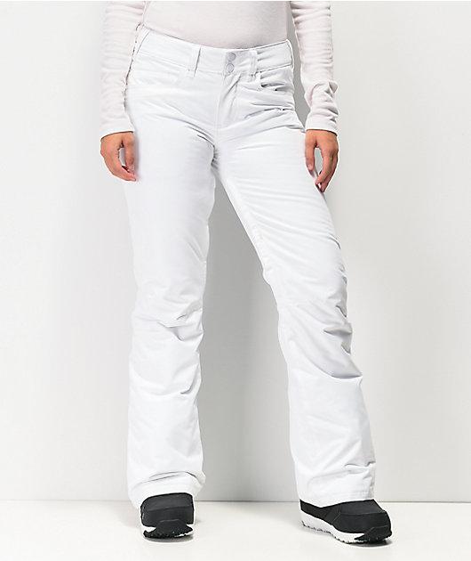 Roxy Backyard White 10K Snowboard Pants 2020