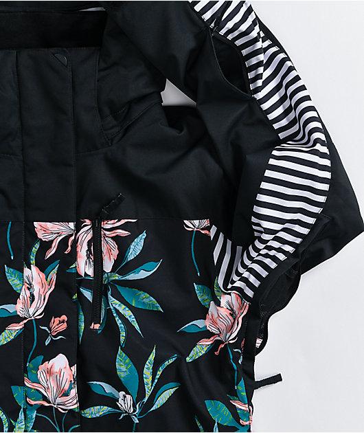 Roxy Jetty Block Floral & Black 10K Snowboard Jacket