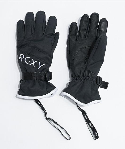 Roxy Jetty Solid Black Snowboard Gloves