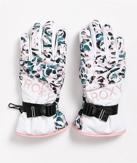 Roxy Jetty White Snowboard Gloves