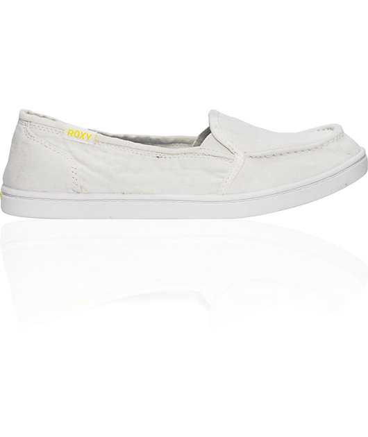 Roxy Lido Cruisers White Canvas Shoes