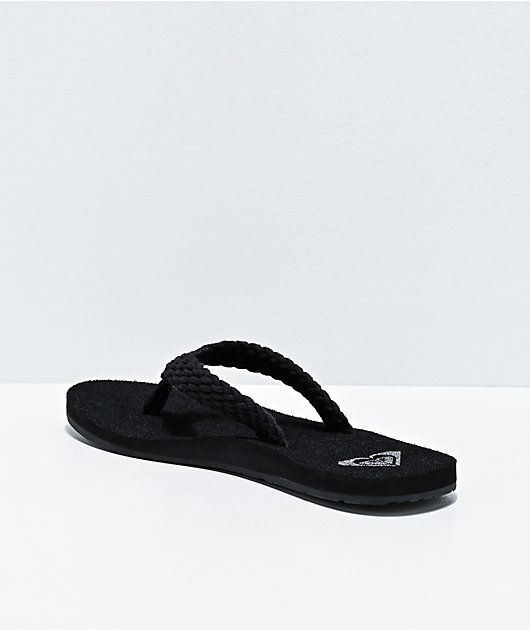 Roxy Porto III Black Sandals
