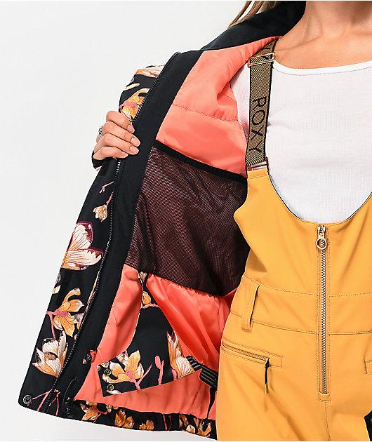 Roxy Torah Bright Jetty True Black Magnolia 10K Snowboard Jacket