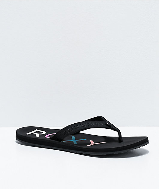 Roxy Vista III Black Sandals