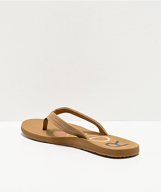Roxy Vista III Tan Sandals