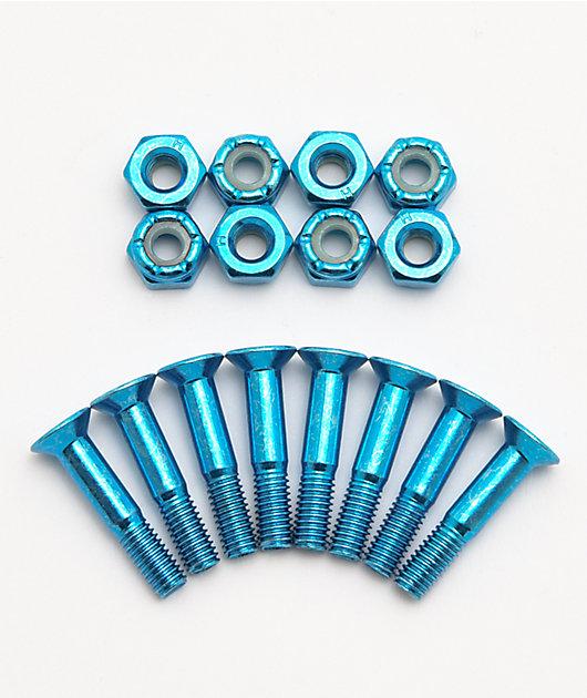 """Rush tornillos de skate anodizados azules de 1"""""""
