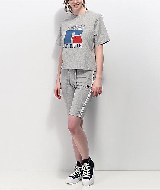 Russell Athletic Virginia Grey Crop T-Shirt