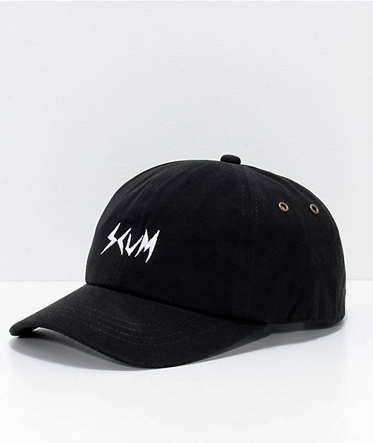 SCUM Logo Black Strapback Hat