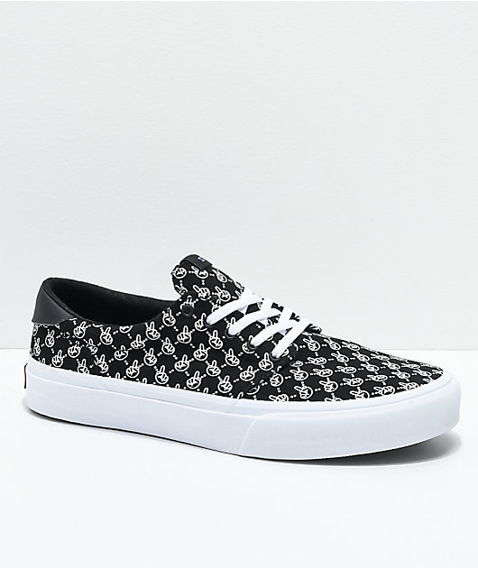 STRAYE Fairfax Black Birdie Skate Shoes