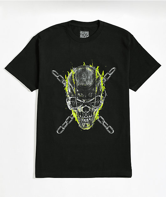 SUS BOY Skull And Chains Black T-Shirt