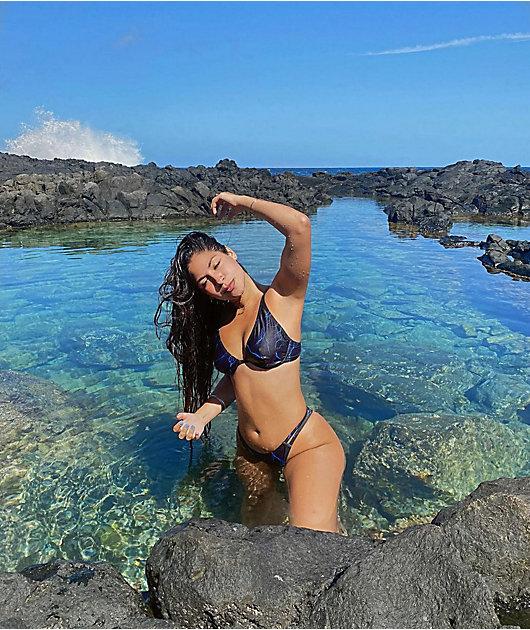 SWIXXZ Blue Thunder High Leg Bikini Bottom