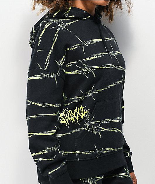 SWIXXZ Entangled Black & Green Hoodie