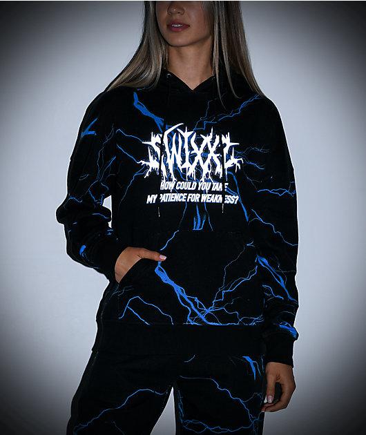 SWIXXZ Lightning Black Hoodie