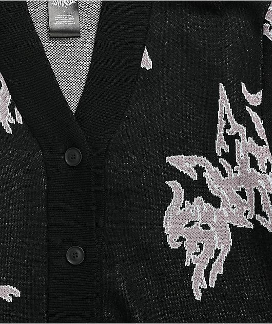 SWIXXZ Penta Logo Black Cardigan