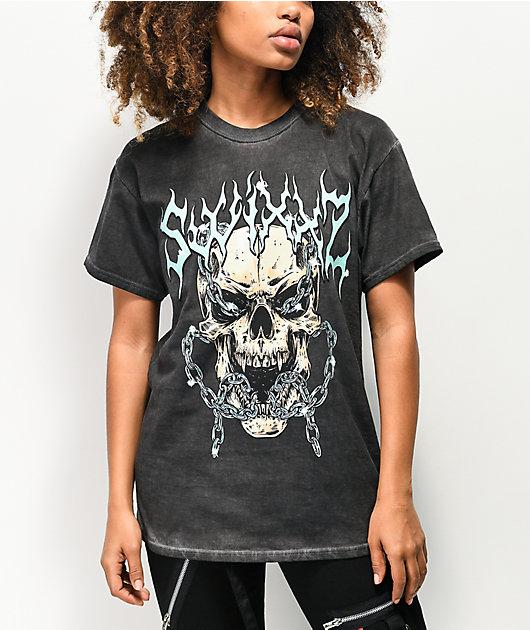 SWIXXZ Shackled Skull Black T-Shirt