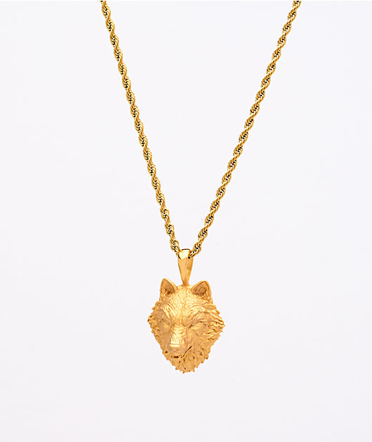 Saint Midas Wolf Head Yellow Gold 20
