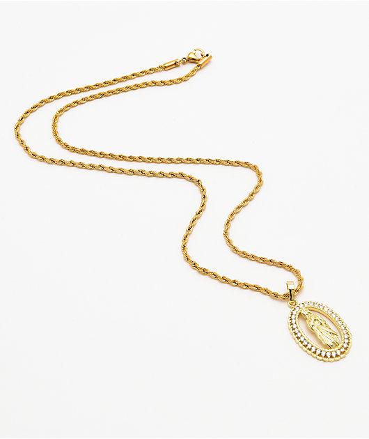 Saint Midas YG Guadalupe Gold Necklace