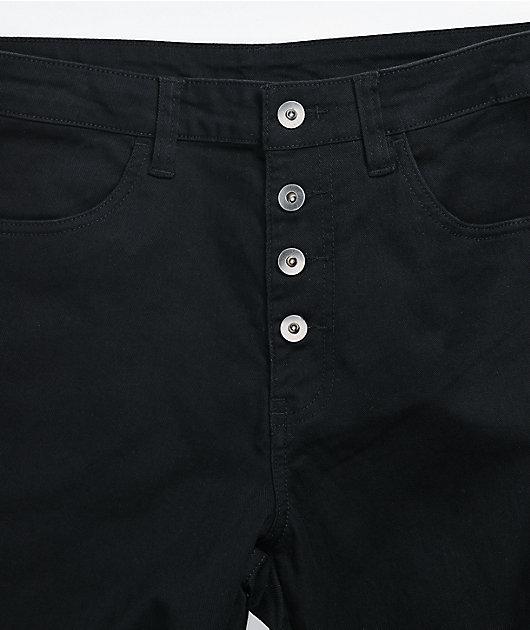 Salem7 Bandage Black Denim Jeans