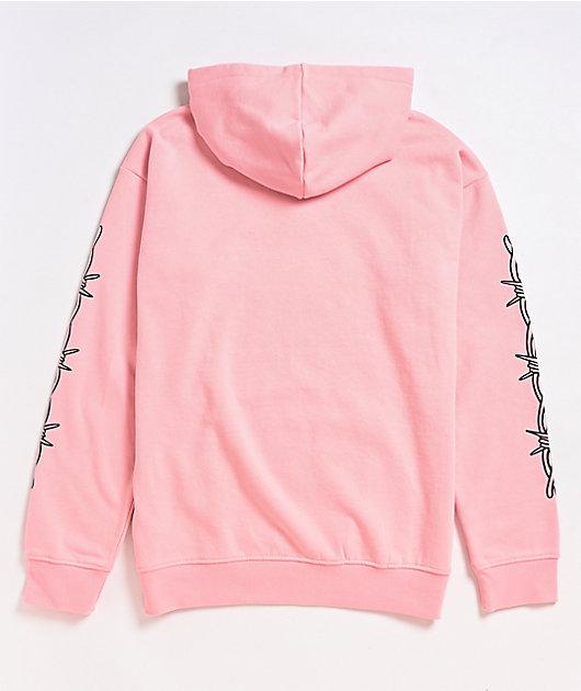 Salem7 Barbed Wire Pink Hoodie