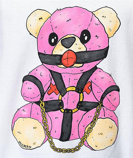 Salem7 Bondage Bear White T-Shirt