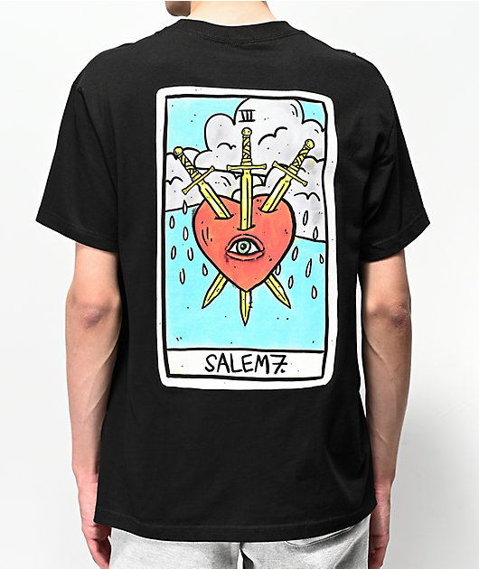 Salem7 Heartbreaker Black T-Shirt