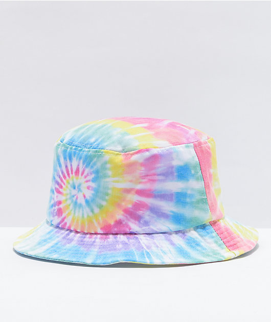 Salem7 Rainbow Tie Dye Bucket Hat