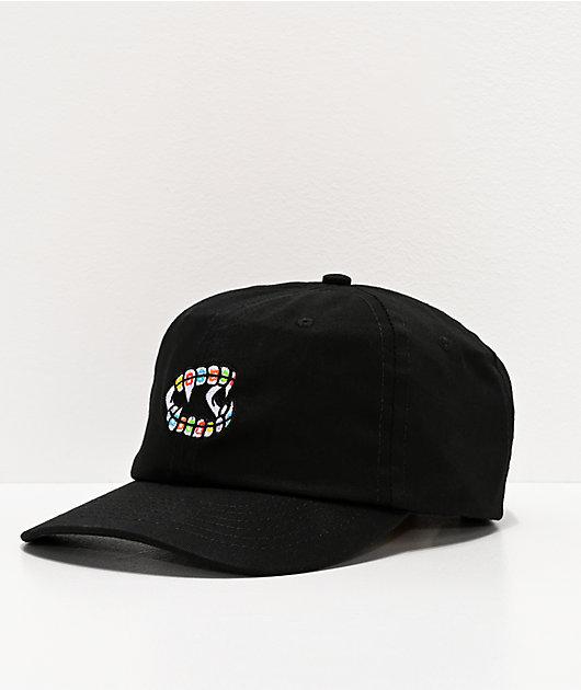 Salem7 Teeth Black Strapback Hat