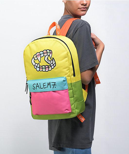 Salem7 Teeth Colorblock Backpack
