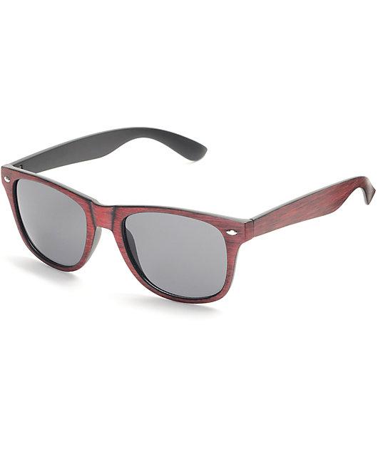 Salt Water Brown Wood Retro Sunglasses