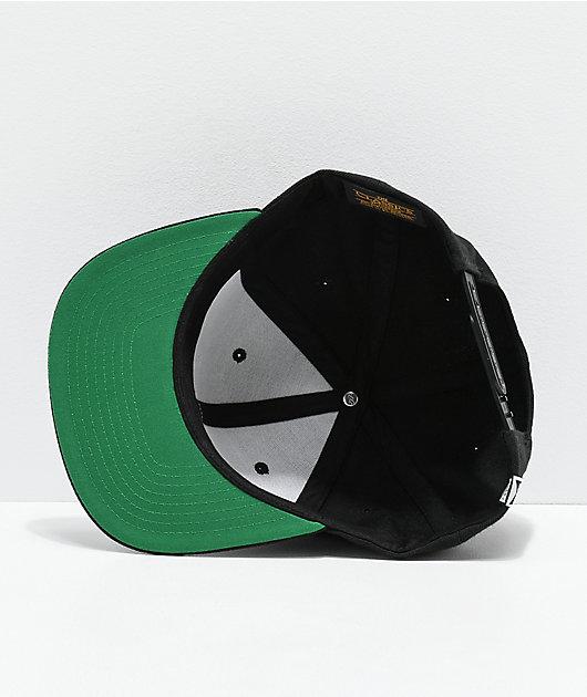 Salty Crew Alpha Stamped Black Snapback Hat