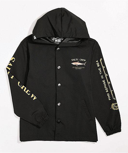 Salty Crew Boys Bruce Black Windbreaker Jacket