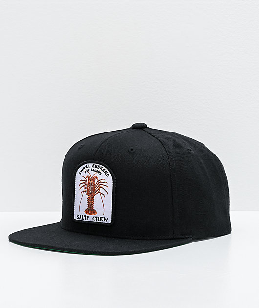 Salty Crew Buggin Out Black Snapback Hat