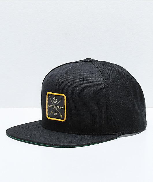 Salty Crew Chart Black Snapback Hat
