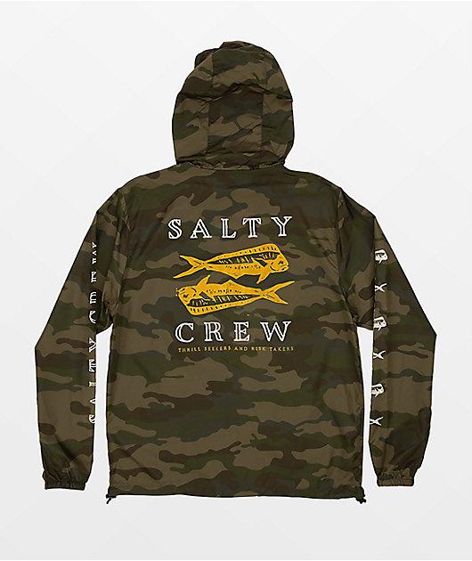 Salty Crew Double Up Camo Windbreaker Jacket