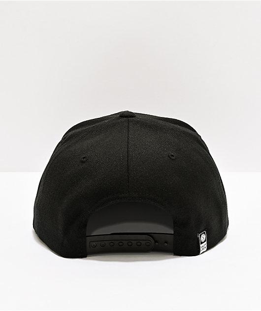 Salty Crew Fishstone Black Snapback Hat
