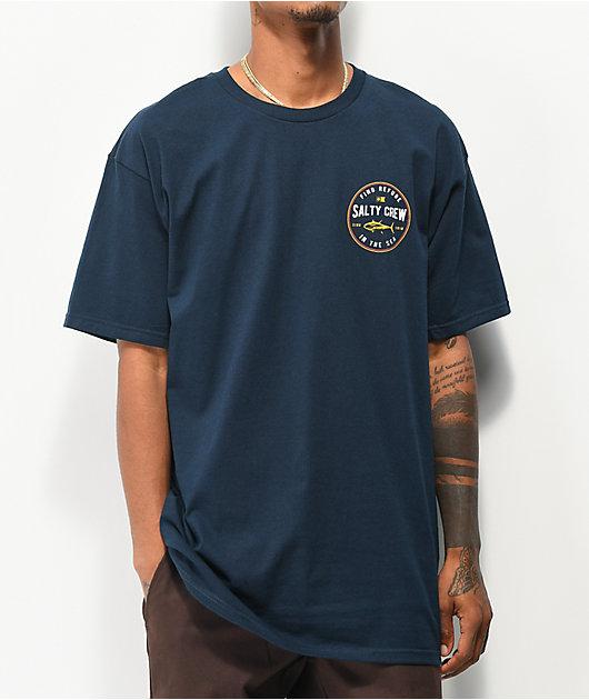 Salty Crew Harbor Navy T-Shirt