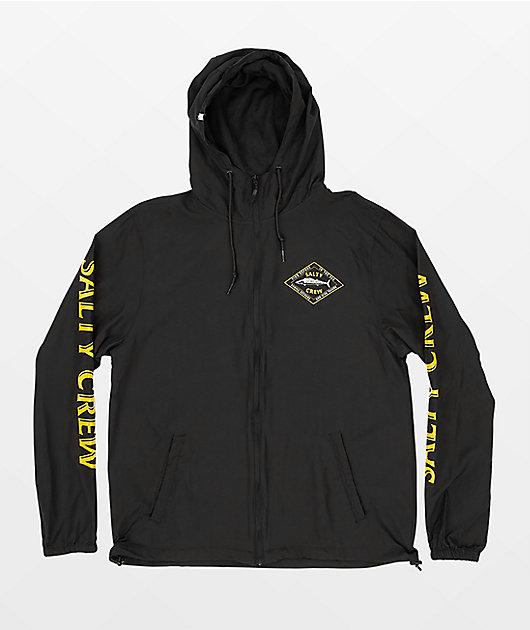 Salty Crew Hotwire Black Windbreaker Jacket