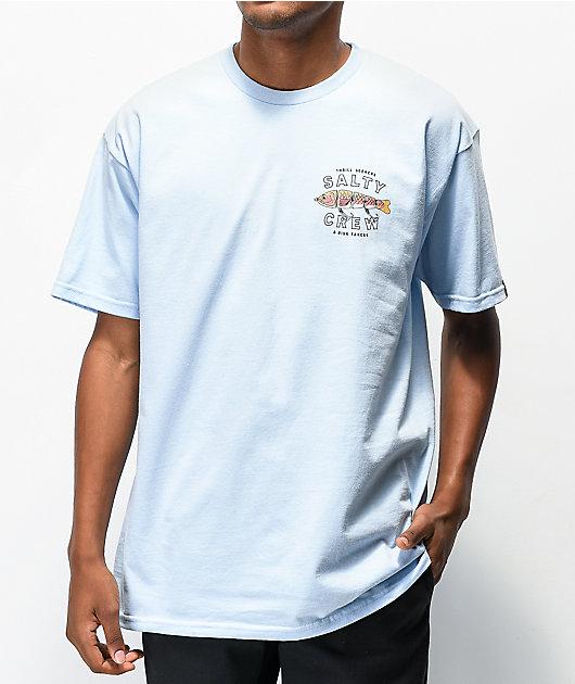 Salty Crew Paddle Tail camiseta azul claro