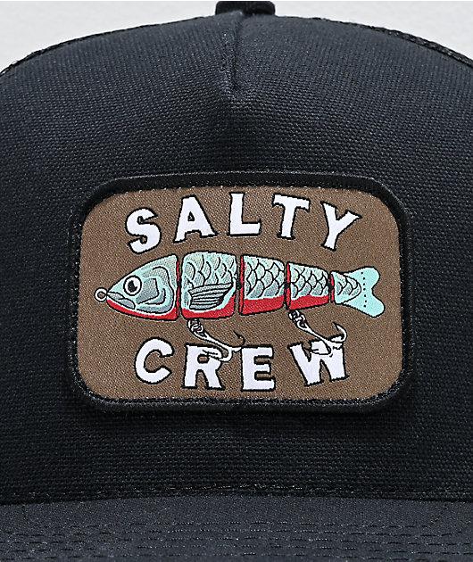 Salty Crew Paddle Tail gorra negra de camionero