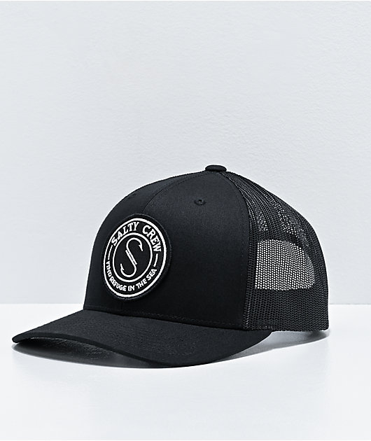 Salty Crew Palomar Retro Black Trucker Hat