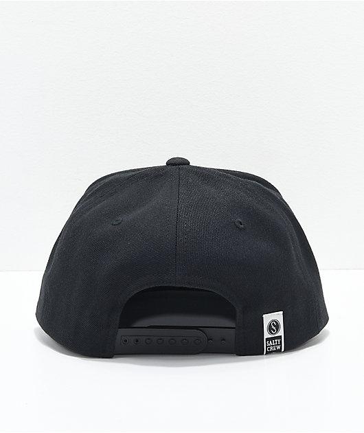 Salty Crew Rigged Black Snapback Hat