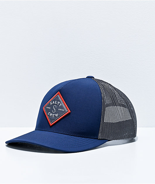 Salty Crew Sea Line Retro Navy & Grey Trucker Hat