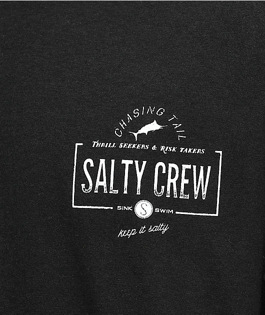Salty Crew Seeker Black & White Long Sleeve T-Shirt