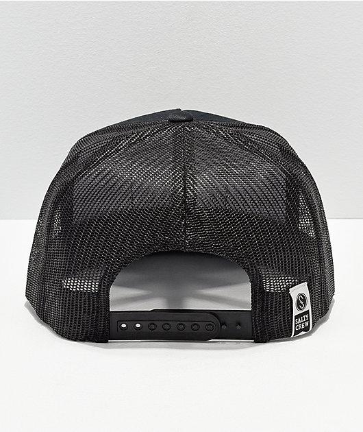 Salty Crew Stealth Black Trucker Hat