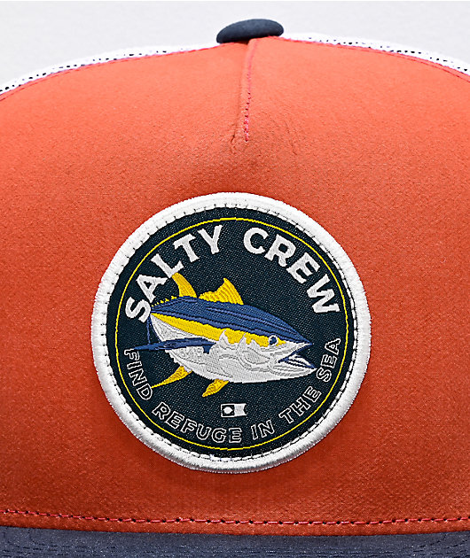 Salty Crew Tailside Coral, Navy & White Trucker Hat